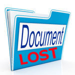 property documents lost by bank