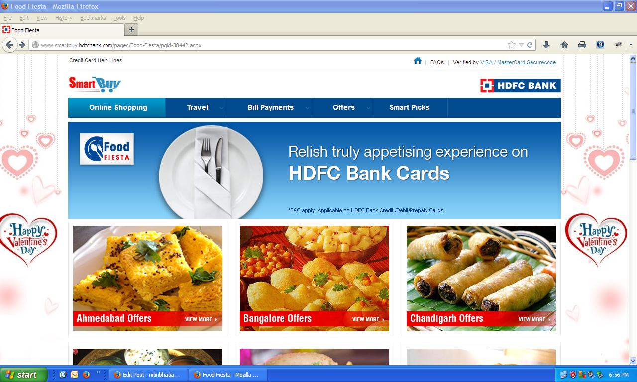 HDFC Smart Buy is an exclusive program for HDFC Bank Customers. HDFC Smart Buy website list down offers available across merchants for HDFC Bank card users.